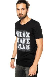 Camiseta Sommer Reta Preta