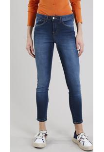 CEA. Calça Jeans Feminina Skinny Azul Escuro 35971cdf093