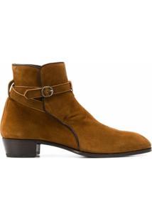Lidfort Ankle Boot Com Detalhe De Fivela - Marrom