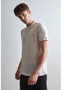 Camisa Polo Reserva Piquet Masculino - Masculino-Off White