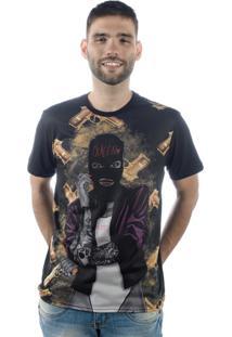 Camiseta Multcaps Mxc 024 Preta