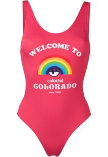 Chiara Ferragni Maiô 'Welcome To Colorado' - Vermelho