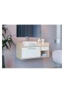 Gabinete De Banheiro Bangkok 1 Pt 1 Gv Branco 35 X 75 Cm
