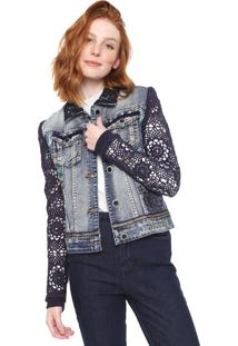 Jaqueta Jeans Desigual Exotic Azul