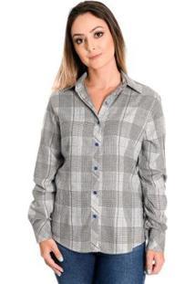 Camisa Pimenta Rosada Florence - Feminino-Cinza