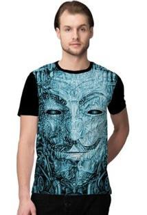 Camiseta Stompy Psicodelica17 Masculina - Masculino-Preto