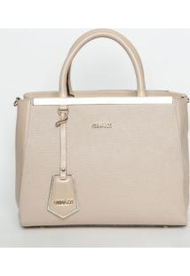 Bolsa Texturizada Com Tag - Rosa Claro & Dourada - 2Griffazzi