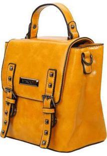Bolsa Mini Mochila Vincci Azul Amarelo