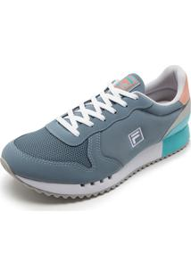 eb87b5f46c ... Tênis Fila Retro Runner Azul Coral Prata