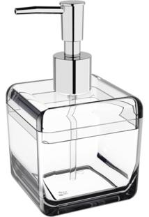 Porta-Sabonete Líquido 330Ml Coza Cube Cristal