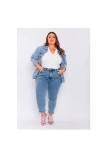 Calça Jeans Plus Size Feminina Xxglamour Skinny