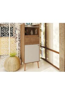 Cristaleira Pe Palito Style Buriti/Off-White - Líder Design