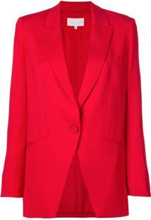 Michelle Mason Blazer Estilo Boxy - Vermelho