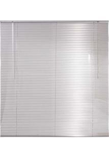 Persiana Horizontal Em Alumínio 25Mm Microperfurado 1,60Larg X 1,60Alt Prata
