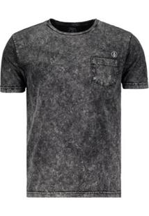 Camiseta Volcom Marble - Masculino-Preto b690342a529