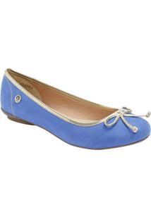 Sapatilha Com Laço & Vivos- Azul Royal & Douradacarmen Steffens