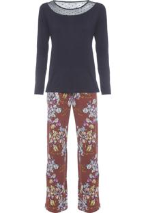 Pijama Feminino Tricot Milão - Laranja