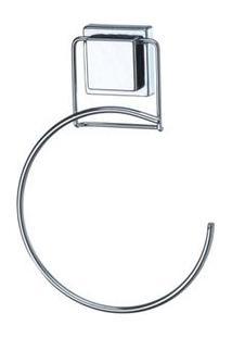 Porta Toalha Redondo Com Ventosas Aço Cromado Arthi