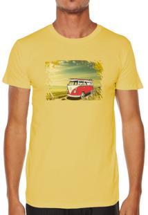 Camiseta Milá Kombi Amarelo