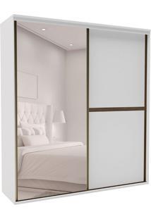 Guarda-Roupa Casal Com Espelho Sofisticato 2 Pt 6 Gv Branco