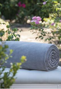 Cobertor Microfibra Cinza - Scavone