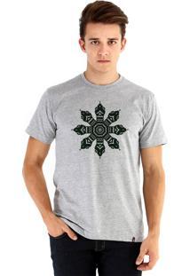 Camiseta Ouroboros Snake Circle Cinza