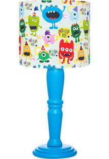 Abajur Carambola Monster Party Colorido