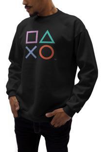 Blusas Playstation Preto