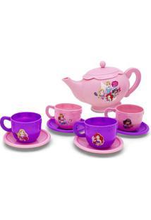 Jogo De Chá Princesas® - Rosa Claro & Roxo- 9Pçs