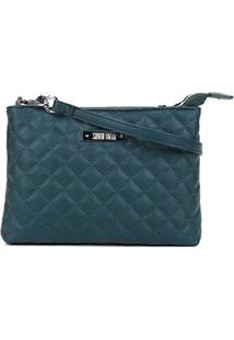 Bolsa Santa Lolla Mini Bag Caviar Feminina - Feminino-Verde