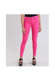 Calça Feminina Skinny Energy Jeans Em Algodão + Sustentável Pink