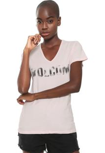 Camiseta Volcom Basic Rosa