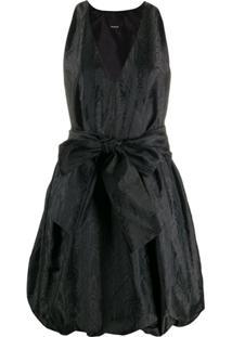 Pinko Vestido Com Cinto - Preto