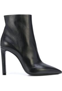 Saint Laurent Ankle Boot Com Salto Alto - Preto