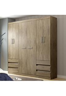Guarda-Roupa Casal 6 Portas 6 Gavetas Rp5066 Wood - Decibal Móveis