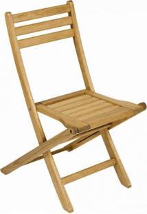 Cadeira Dobrável Para Jardim Em Madeira Maciça Ipanema Mestra Polisten Jatobá