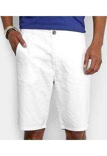 Bermuda Sarja Color Triton Masculina - Masculino-Branco