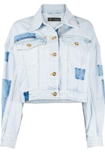 Versace Jaqueta Jeans Mangas Com Cava Baixa - Azul