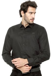 Camisa Colcci Linho Preto