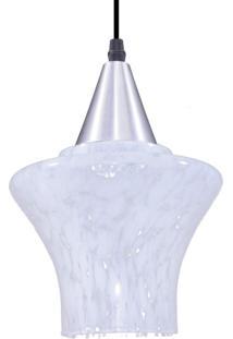 Pendente Redondo Para 1 Lâmpada Treviso Liso Transparente E Leitoso E27 Taschibra Transparente