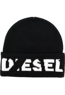 ... Diesel Gorro Com Logo - Preto 295e831039c