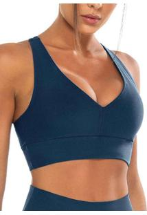 Top Feminino Nadador Enfim 1000084948 01551-Azul-P