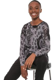 Suéter Desigual Tricot Trendy Grafite