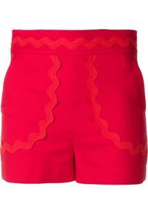 Red Valentino Short Com Laço - Vermelho
