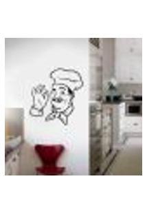 Adesivo De Parede Chefe De Cozinha Divino - Extra Grande