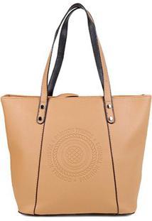 Bolsa Pagani Shopper Elegant Feminina - Feminino-Areia