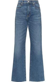Slvrlake Calça Jeans Reta Com Efeito Desbotado - Azul