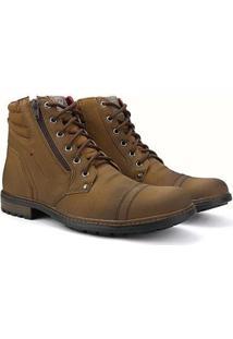 Bota Sapato Fran Coturno Cano Baixo Masculina - Masculino-Marrom