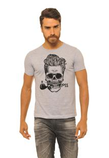 Camiseta Joss Caveira Charuto Cinza