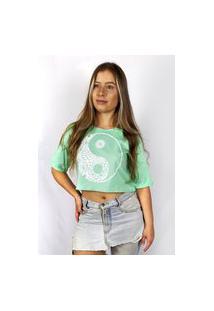 Blusa Cropped Feminina Wss Brasil Yin Yang Verde